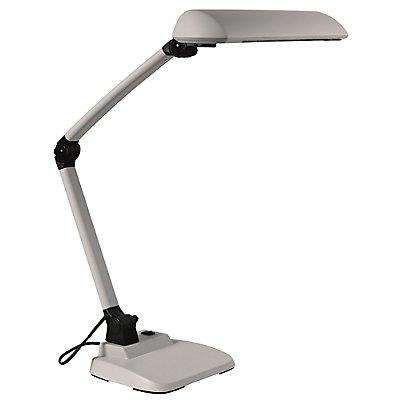 Schreibtischlampe mit extrabreitem Reflektor - schwarz oder lichtgrau