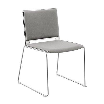 Stuhl mit Kufen - mit Rückenpolster
