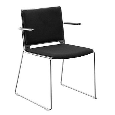 FRIWA Stuhl mit Kufen - mit Sitz- und Rückenpolster