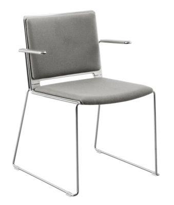 Stuhl mit Kufen - mit Sitz- und Rückenpolster