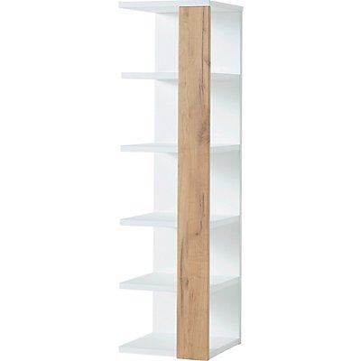 Toronto Regal | HxBxT 107 x 30 x 32 cm | Weiß/Navarra-Eiche