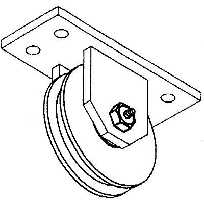 Rollenbock - Rollen-Ø 100 mm - pulverbeschichtet