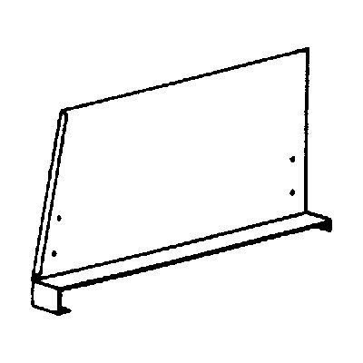 hofe Fachteiler für System-Steckregal - mit Klemmfuß, Höhe 300 mm - für Bodentiefe 600 mm, lichtgrau RAL 7035