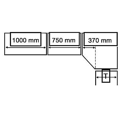 Kerkmann Büro-Regalsystem, mit Rückwand - Regalhöhe 2250 mm