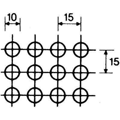 Stapelkasten, Stahlblech gelocht - Ausführung Lochbild C, VE 5 Stk