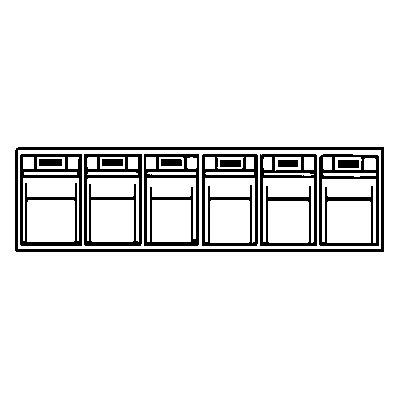 Lockweiler Klappkasten-System - Gehäuse-HxBxT 113 x 600 x 91 mm