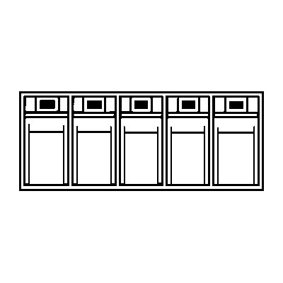 Lockweiler Klappkasten-System - Gehäuse-HxBxT 164 x 600 x 133 mm