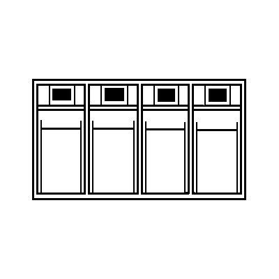 Lockweiler Klappkasten-System - Gehäuse-HxBxT 207 x 600 x 168 mm
