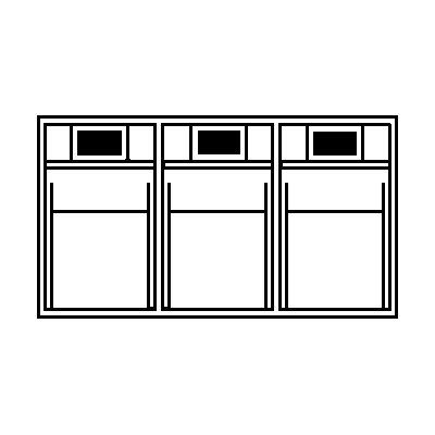 Lockweiler Klappkasten-System - Gehäuse-HxBxT 240 x 600 x 197 mm