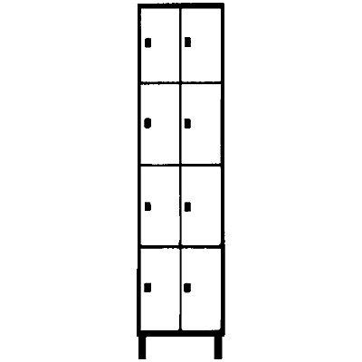 Wolf Stahlspind - mit Stollenfüßen, 8 Abteile, 400 mm, lichtgrau / silbergrau