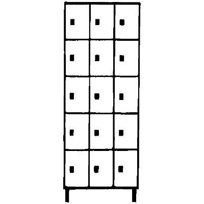 Wolf Stahlspind - mit Stollenfüßen, 15 Fächer, 300 mm, lichtgrau / silbergrau