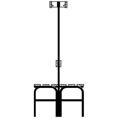 Sypro Garderobenbank mit Hakenleisten - beidseitig, 6 Haken, 1015 mm