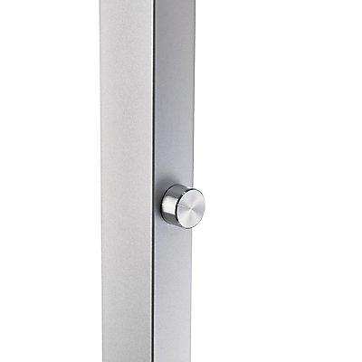 Alco LED-Stehleuchte | HxBxT 120 x 51 x 15 cm | Silber