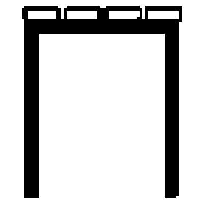 Wolf Garderobenbank ohne Lehne - PVC-Leisten, braun