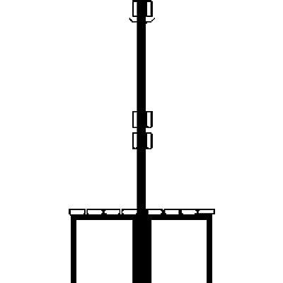 Wolf Garderobenbank, zweiseitig - Länge 2000 mm, PVC-Leiste