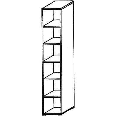 Wellemöbel VERA Büroregal - 5 Fachböden, 400 mm breit