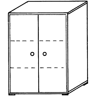 Wellemöbel VERA Büroschrank - 2 Fachböden, 800 mm breit