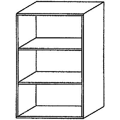 Wellemöbel BASIC-II Regal - Höhe 1090 mm, Breite 800 mm