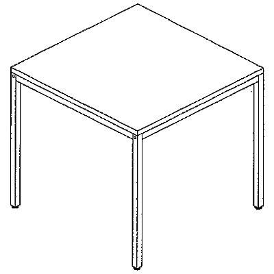 LENA Schreibtisch - BxT 800 x 800 mm, höhenverstellbar