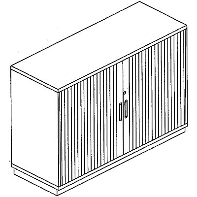 HANNA Rollladenschrank - Höhe 781 mm, 2 Ordnerhöhen