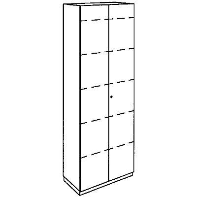 HANNA Aktenschrank - 5 Fachböden, 2 Türen
