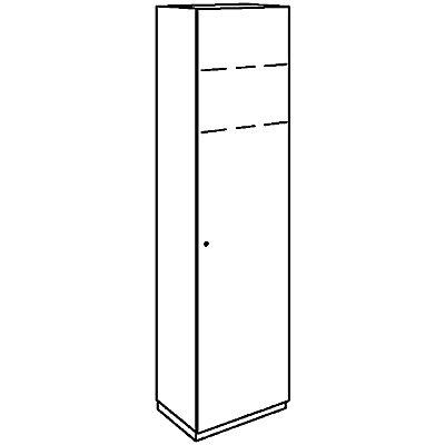HANNA Garderobe - mit Fachboden und ausziehbarer Stange