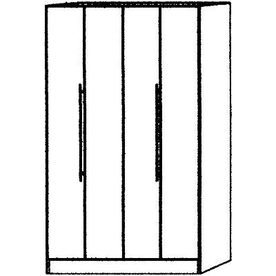 Hammerbacher VIOLA Falttürenschrank - Öffnungswinkel 170°, 4 Fachböden