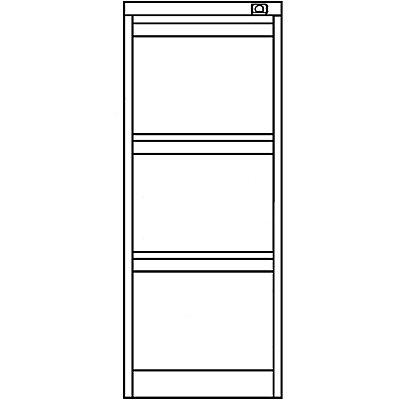 Bisley Hängeregistraturschrank, 1-bahnig - 3 Schübe, DIN A4