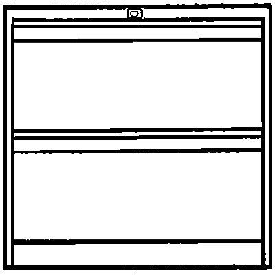 Bisley Hängeregistraturschrank, 2-bahnig - 2 Schübe, DIN A4