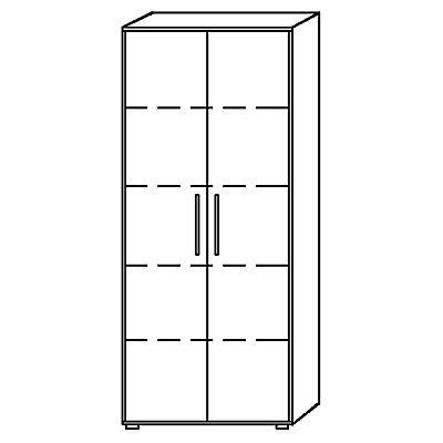 hammerbacher bianca office schrank hxb 1880 x 800 mm 5 ordnerh hen. Black Bedroom Furniture Sets. Home Design Ideas