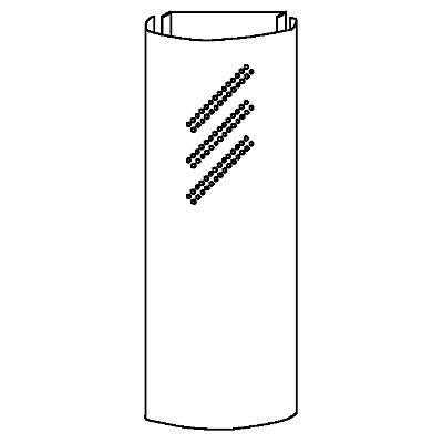 HAMMERBACHER Seitenblende - mit 3 Doppellochreihen - weißaluminium, VE 2 Stk