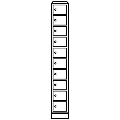 Wolf – Kleingefachschrank - 10 Fächer, HxB 1800 x 300 mm