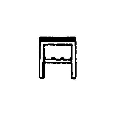 Melzer Metallbau Garderobenbank mit Holzleisten, ohne Lehne - ohne Schuhrost, Länge 1500 mm