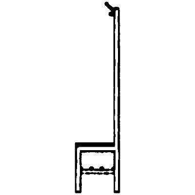 Melzer Metallbau Garderobenbank mit Hakenleiste und Holzleisten - ohne Schuhrost, einseitig, Länge 1500 mm, 7 Haken