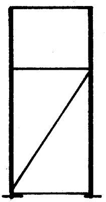 Palettenregal-Stützrahmen, Traglast max. 10000 kg - Stützrahmenhöhe 2105 mm