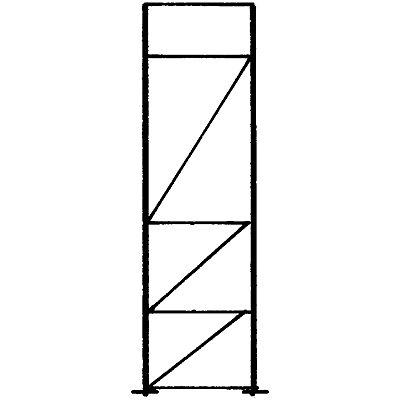 Palettenregal-Stützrahmen, Traglast max. 10000 kg - Stützrahmenhöhe 3155 mm