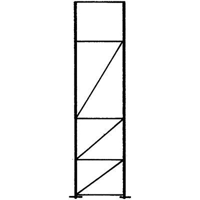 SLP Palettenregal-Stützrahmen, Traglast max. 10000 kg - Stützrahmenhöhe 3505 mm