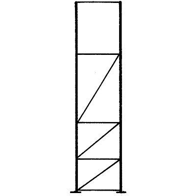 Palettenregal-Stützrahmen, Traglast max. 10000 kg - Stützrahmenhöhe 3855 mm