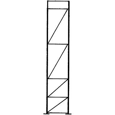SLP Palettenregal-Stützrahmen, Traglast max. 10000 kg - Stützrahmenhöhe 4555 mm