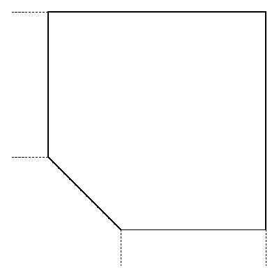 HAMMERBACHER BIANCA Verkettung für Schreibtische - Trapez-Eckplatte mit Stützfuß