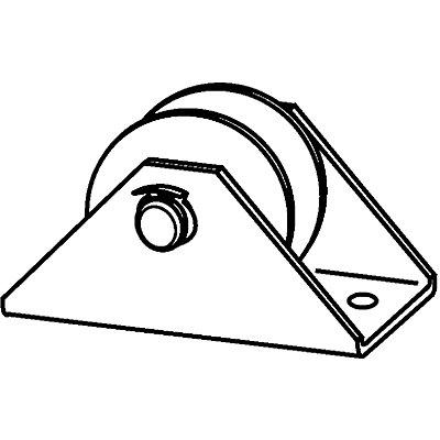 Poulie - Ø galet 60 mm - galvanisé