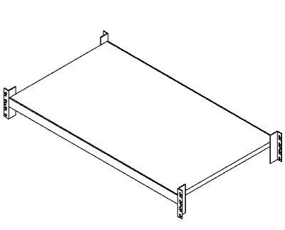Weitspannregal-Fachebene komplett mit Einlegeboden - Traversenlänge 1800 mm