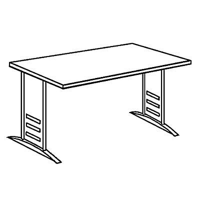 TINO Schreibtisch, BxT 1600 x 800 mm
