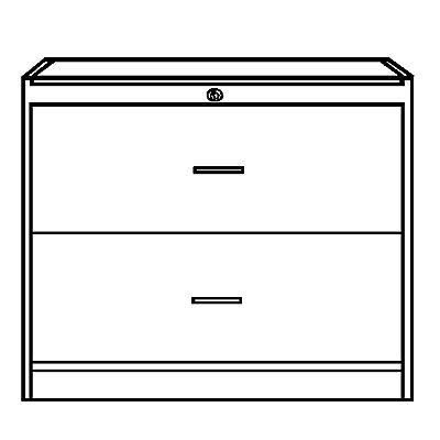 TINO Hängeregistraturschrank, mit 2 Schüben, HxBxT 820 x 1000 x 420 mm
