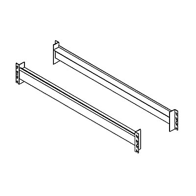 Schwerlastregal-Auflagetraversen, Paar - Kastentraversen zur Einlage von Spanplatten, Länge 2200 mm
