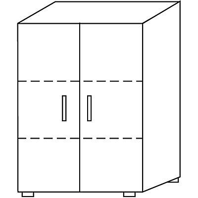 Wellemöbel BASIC-II Aktenschrank - Höhe 1090 mm, Breite 800 mm