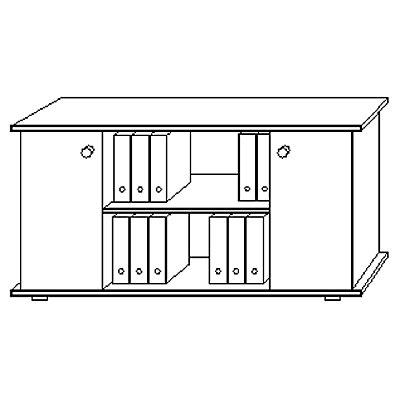 Hammerbacher FINO Sideboard - mit Flügeltüren