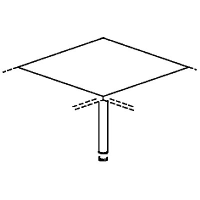 fm HANNA Verkettung für Schreibtische - 90°, mit Stützfuß