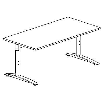 HANNA C-Fuß Schreibtisch - höhenverstellbar, Breite 1600 mm