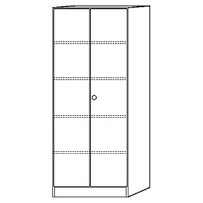 Hammerbacher FINO Aktenschrank abschließbar - 4 Fachböden, HxBxT 2004 x 800 x 420 mm - lichtgrau | 6100/5/5